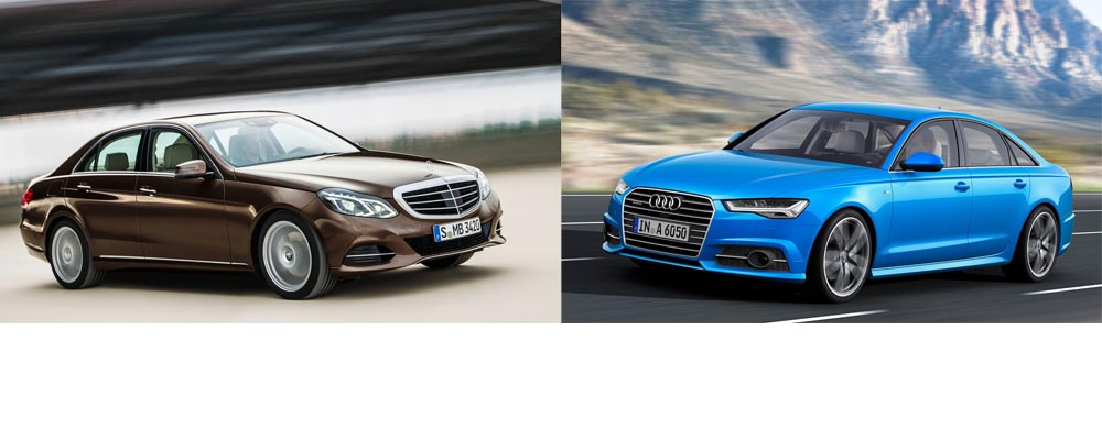 Audi A6 facelift vs Mercedes-Benz E-Class facelift - 2014 Paris Motorshow - mercedesblog 4