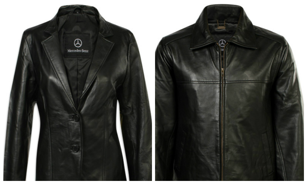 Dress in mercedes mercedesblog for Mercedes benz leather jacket