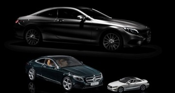 New S-Class Coupe in 1:43 from iScale and 1:18 from Norev