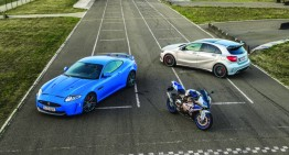Fast feet: A 45 AMG vs HP4 and XKR-S