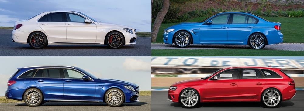 Mercedes-AMG C63 vs BMW M3 vs Audi RS4 - dimensiuni- mercedesblog