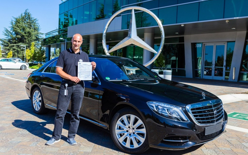 California welcomes first real-life testing autonomous Mercedes-Benz