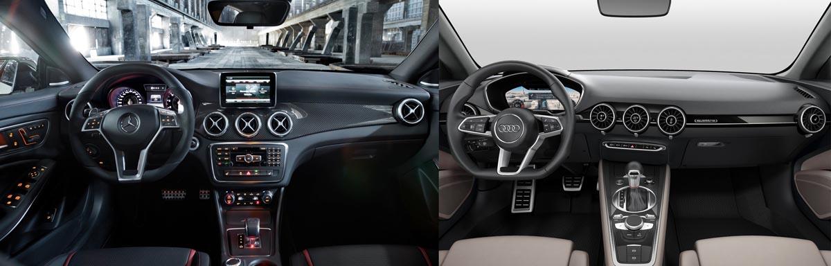 Audi TT Sportback Concept vs Mercedes-Benz CLA - 2014 Paris Motorshow - Mercedesblog 2