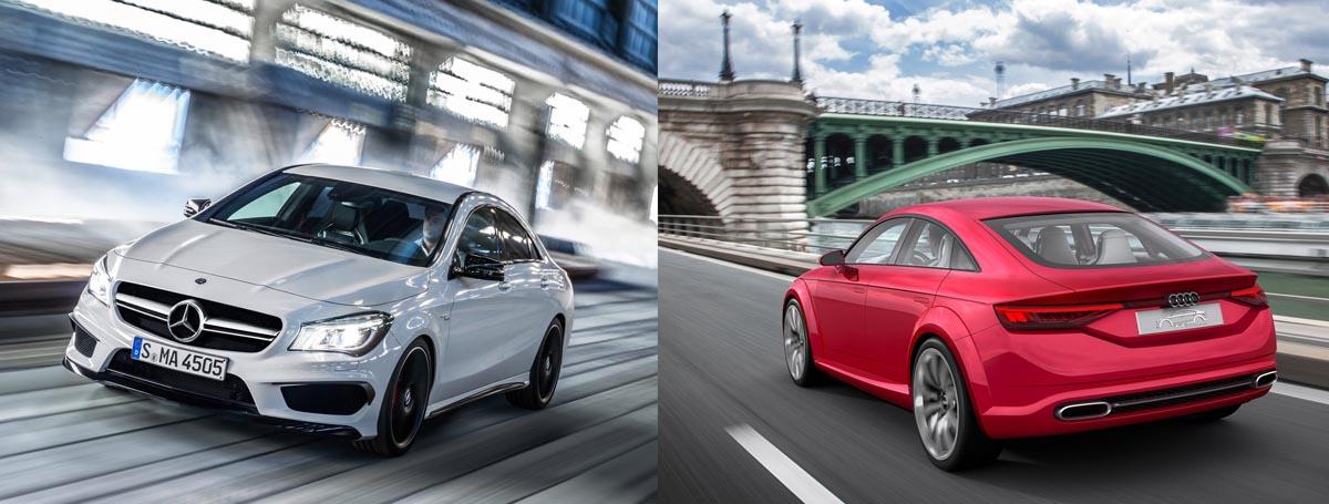 Audi TT Sportback Concept vs Mercedes-Benz CLA - 2014 Paris Motorshow - Mercedesblog 3