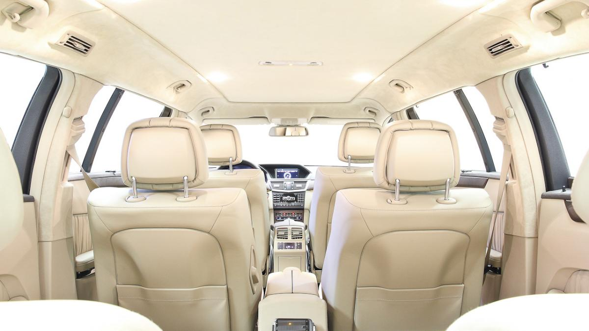 The long E-Class can have 6, 7 or 8 seats, according to customer demand