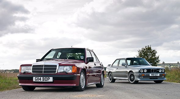Mercedes 190 E 2.5-16V vs BMW M3 E30