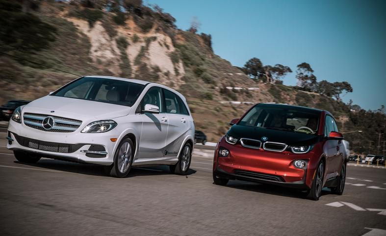 Mercedes-Benz Electric Drive vs BMW i3 - comparison test - Mercedesblog 101