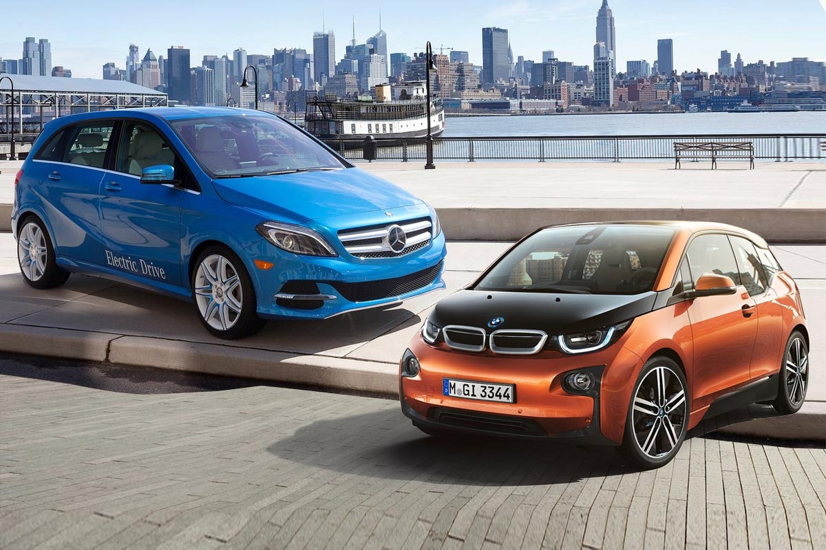 2014 b class electric drive vs bmw i3 for Mercedes benz electric drive