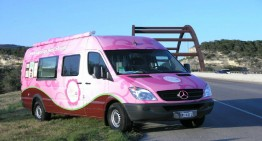 The Flower Power Sprinter Full of Cupcakes
