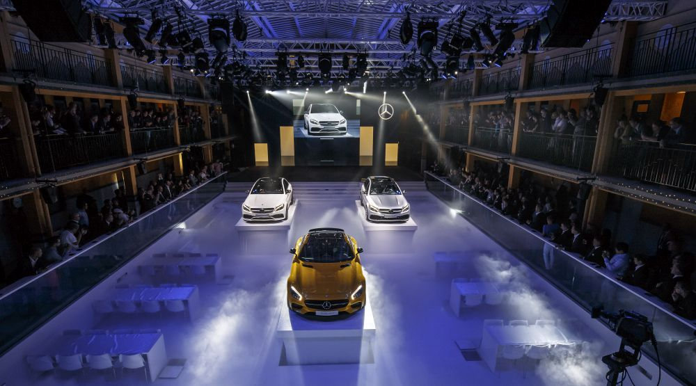 Mercedes media night at paris motorshow video update for Mercedes benz downtown portland