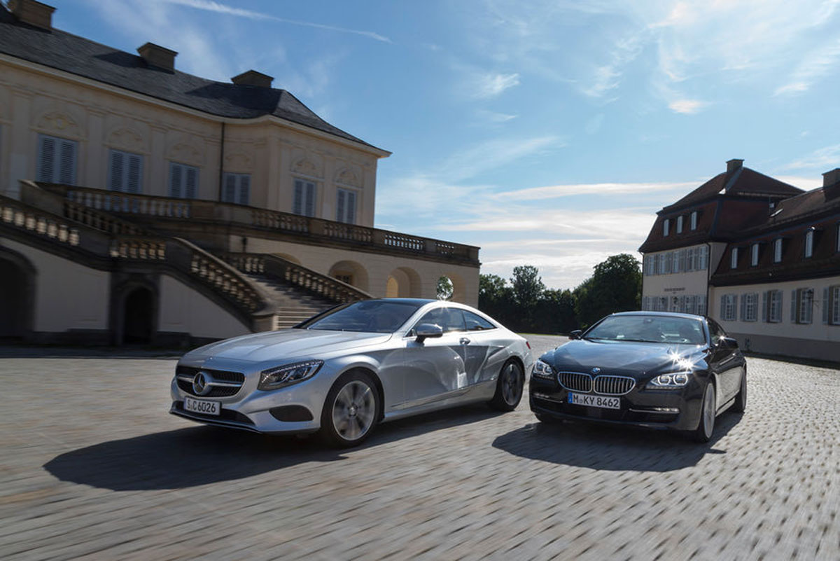 Mercedes benz s class coupe and bmw 6 series head to head for Mercedes benz 650i
