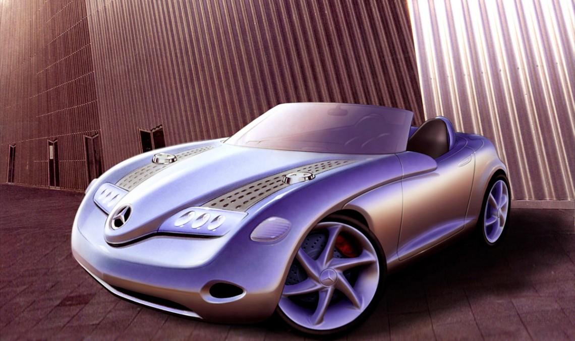 The roadster recipe, distilled – Mercedes-Benz Vision SLA