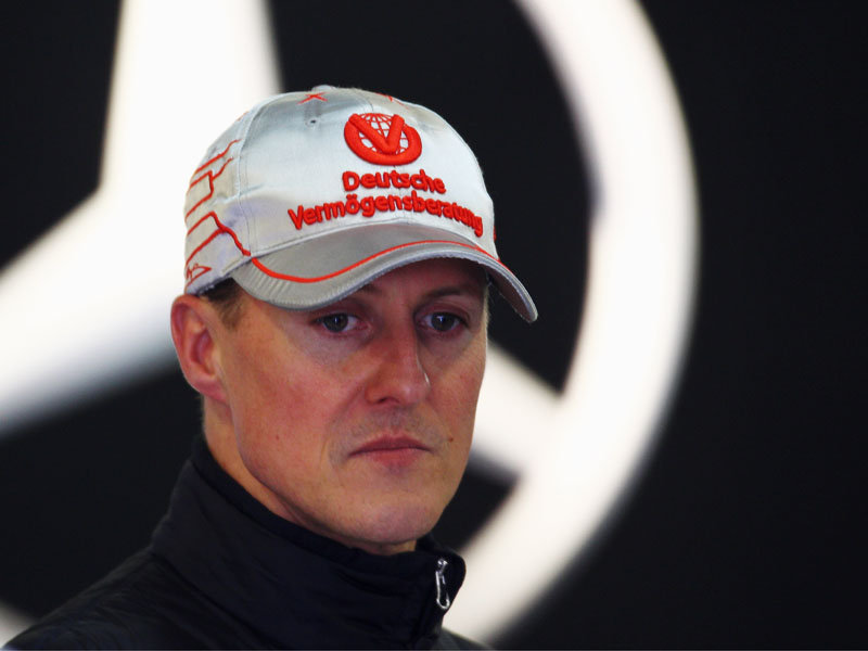 Schumacher, In a Wheelchair
