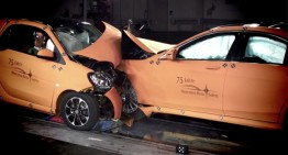 The David and Golliath smart Crash Test