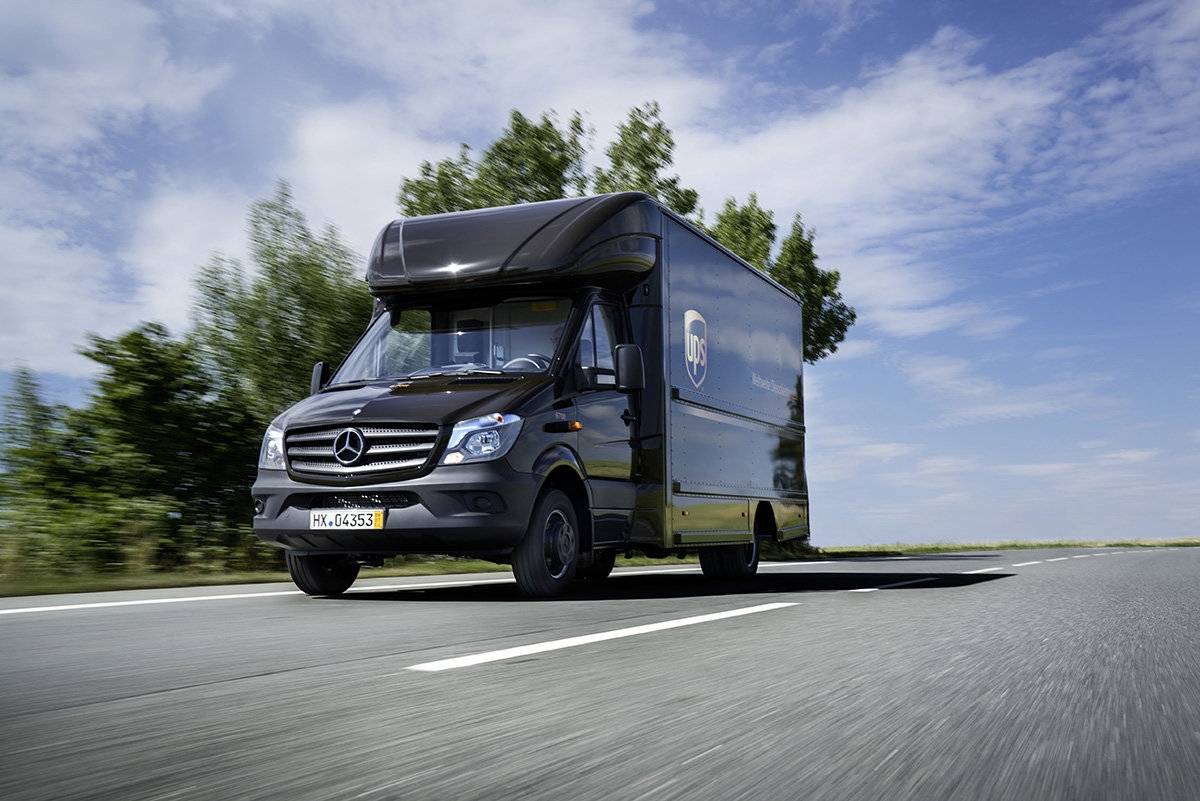 The New Sprinter is the Basis for the New UPS Delivery Vehicles ...
