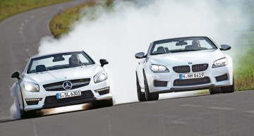 Sport Auto magazine comparison test: Mercedes SL 63 AMG vs BMW M6 Cabrio