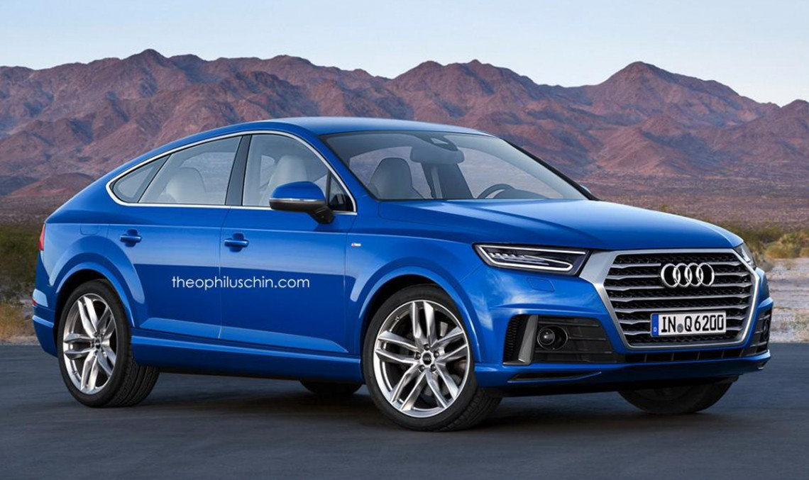 Somebody imagined the Audi Q6, an equivalent of the new GLE Coupe