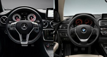 Static comparison: Mercedes-Benz A-Class vs BMW 1 Series facelift