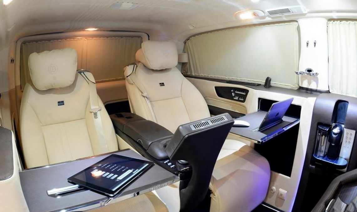 Brabus Viano iBusiness van reveals its royal interior