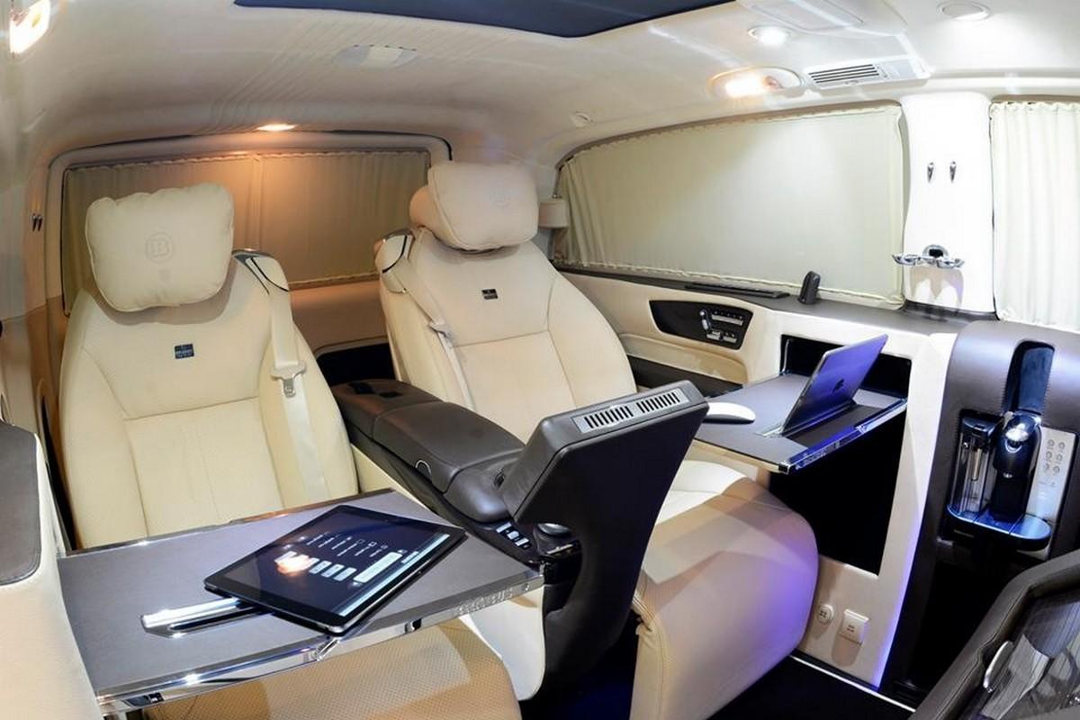 Brabus viano ibusiness van reveals its royal interior for Interior mercedes viano