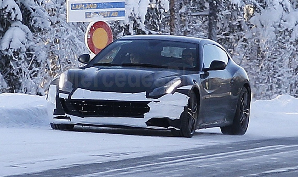 Ferrari FF facelift spied during winter testing in Sweden
