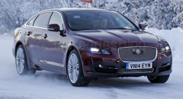 SPIED: Jaguar XJ facelift spotted during snow testing