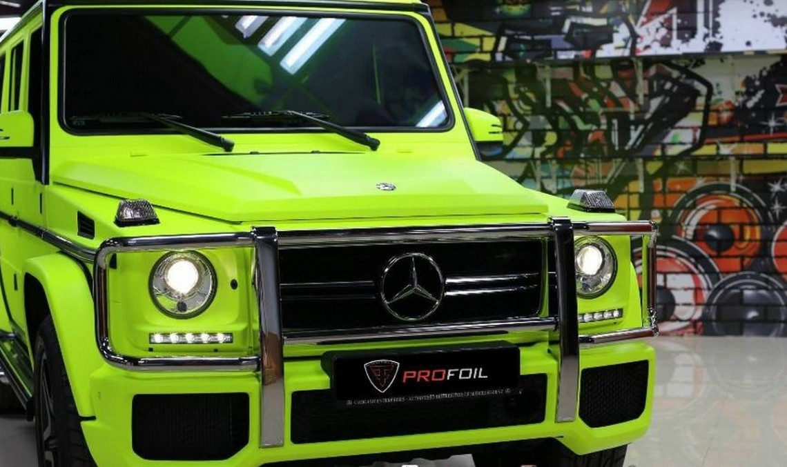 Neon yellow is the new black for this Mercedes G 63 AMG