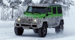 Spied: Mercedes G 63 AMG 4×4 is one mean green off-road machine