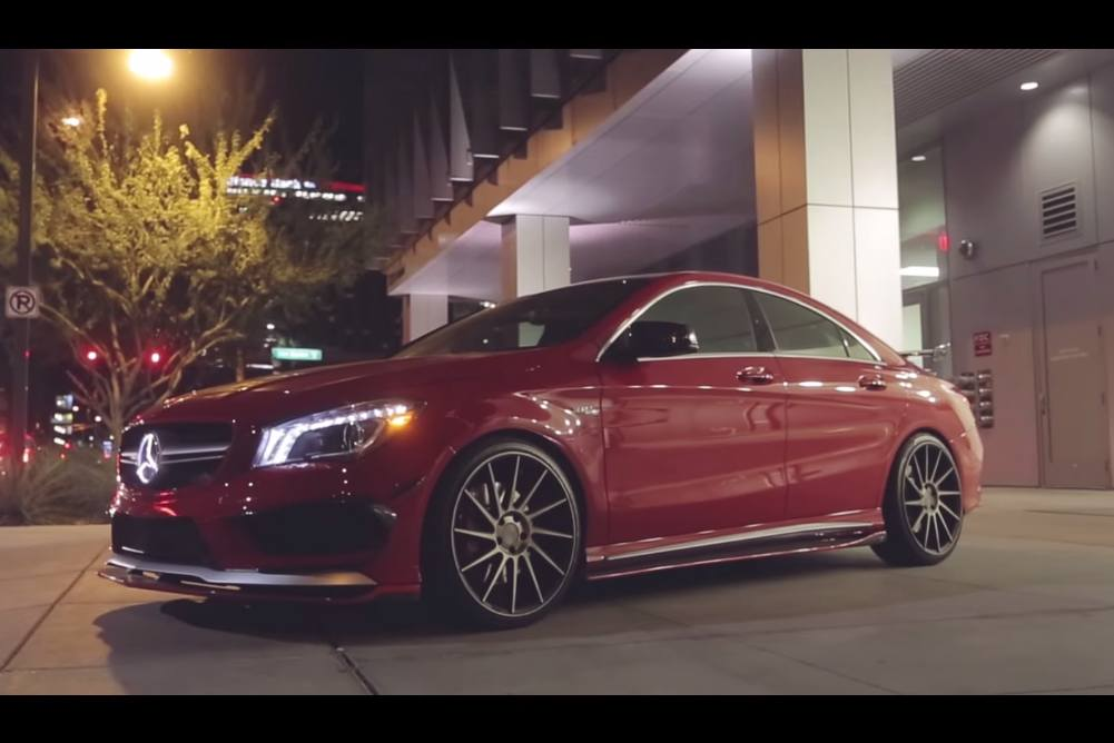 Video mercedes cla45 amg benefits from the vivid racing for Mercedes benz video