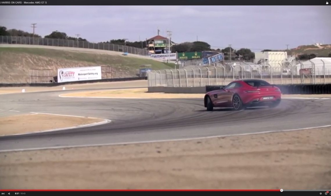 Chris Harris drove the Mercedes AMG GT S at Laguna Seca