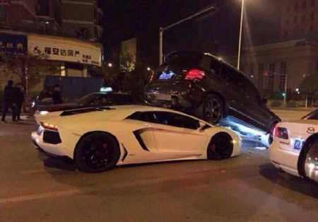 Lamborghini GLK Accident China