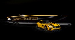 Cigarette Racing 50 Marauder GT S Concept inpired by the Mercedes-AMG GT S