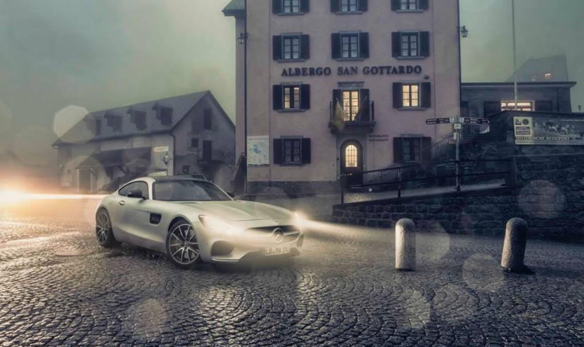 Drag race by night: Tesla Model S P85D vs Mercedes AMG GT S