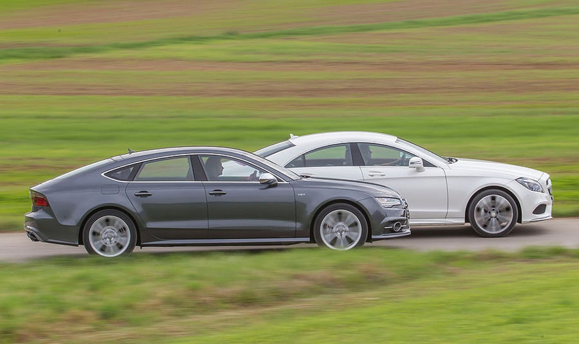 Battle of the monster coupes: S7 Sportback vs. CLS 500 4MATIC