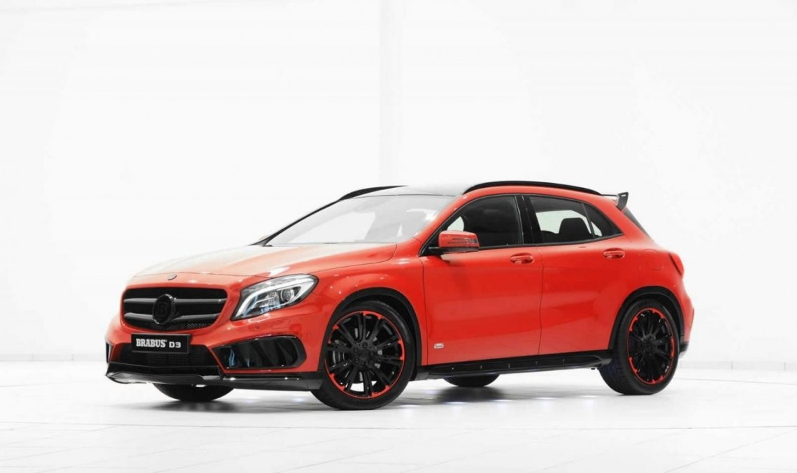 mercedes gla with amg sports pack receives a gift from brabus mercedesblog. Black Bedroom Furniture Sets. Home Design Ideas