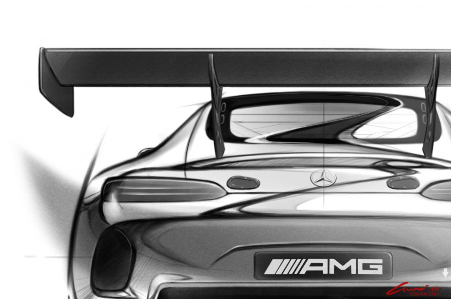 Mercedes-AMG GT3 race car teased, road version in the pipeline