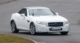 First shots of the Mercedes-Benz SLK 2016 facelift