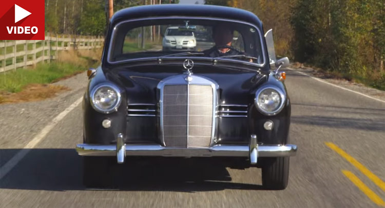 Classic 1953 Mercedes-Benz 180D 'Ponton' video test