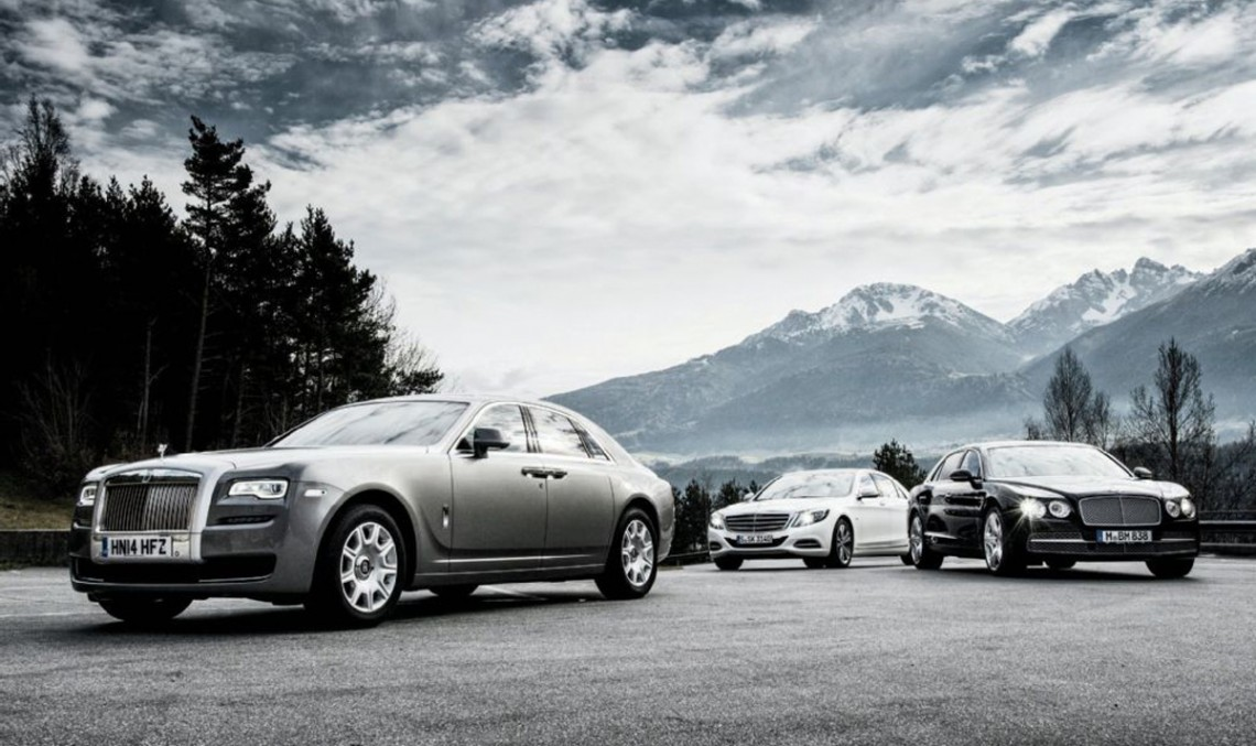 Bentley Flying Spur vs Mercedes-Benz S 600 vs Rolls-Royce Ghost Series II