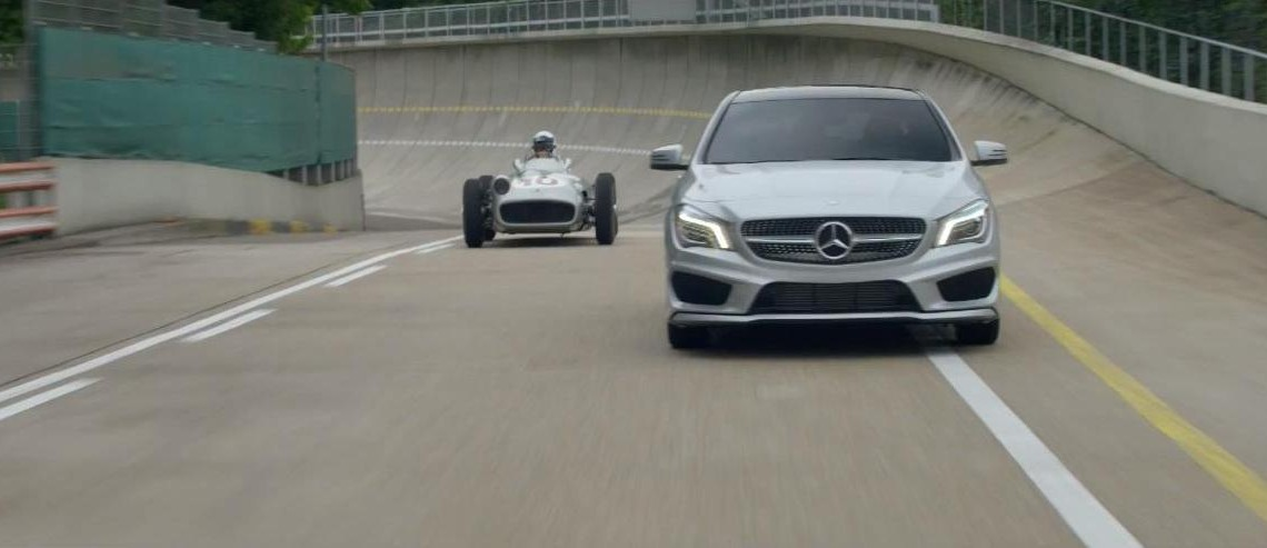 Juan Manuel Fangio's $30 Million Mercedes stars in 2015 CLA spot