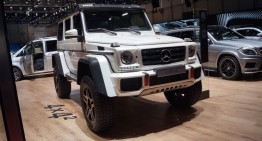 GENEVA LIVE: Mercedes-Benz G500 4×4², intimidation at its best