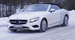 Latest spyshots of the future Mercedes-Benz S-Class Cabrio