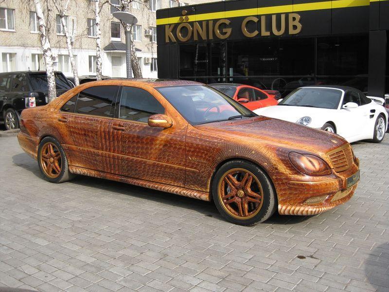 "Mercedes ""Dragon"" S-Class Breathing Fire"