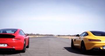 New challenge: Mercedes-AMG GT S vs Porsche 911 Carrera 4 GTS