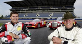 Like father, like son. Mercedes SLS AMG vs 300 SEL 6.8 AMG