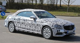 2017 Mercedes C-Class Cabrio caught again on video