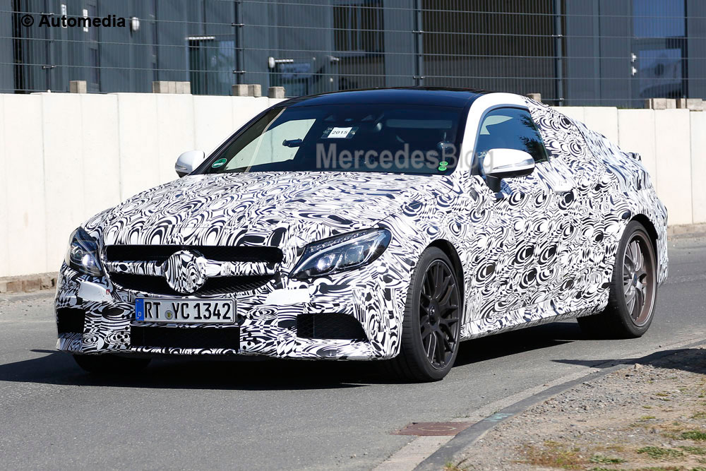 New Mercedes-AMG C 63 Coupe shows its face for the first time