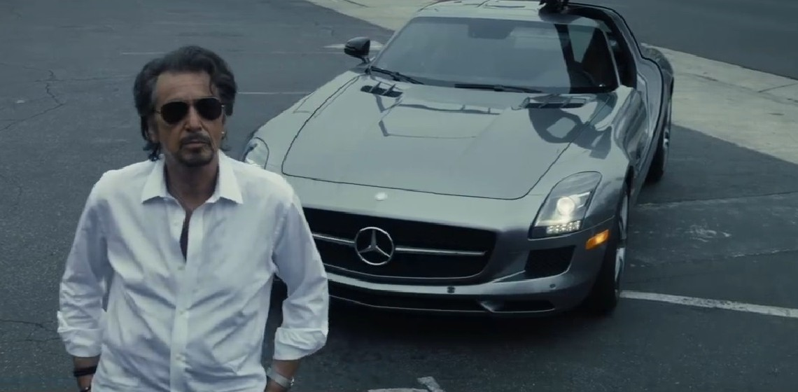 Al Pacino drives an SLS AMG in new movie: A car for a rock star! - MercedesBlog