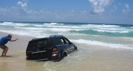 The SUV is not a boat! Not even a 4Matic can float!