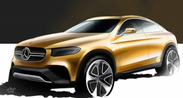 Mercedes-Benz GLC Coupe unveiled. First official sketch